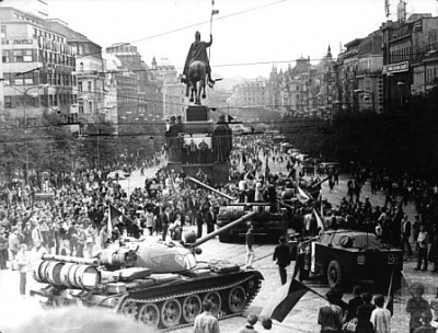 Russian invasion in Prague in 1968