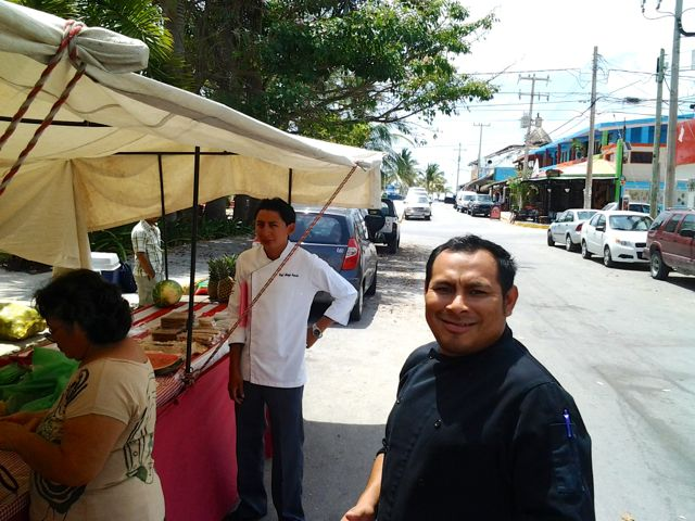 The organic market in Puerto Morelos