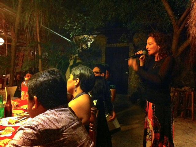 And Paula sang a few Mexican Boleros.