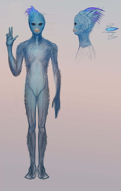 Blue Avian, one of the 5 races of the Sphere Being Alliance