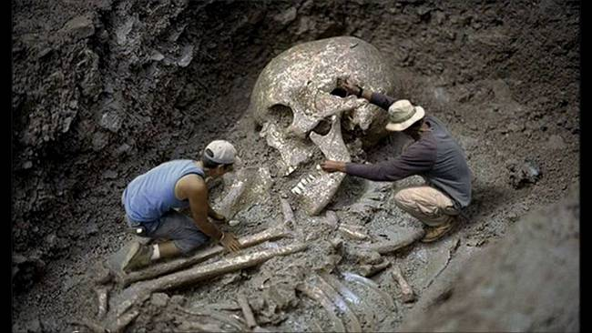 Giant skeleton found in Brazil.