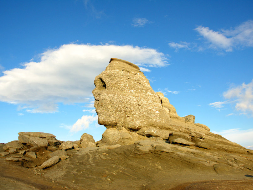 The Great Bucegi Sphinx in the Bucegi Mountains aka the Romanian Sphinx and the Carpathian Sphinx