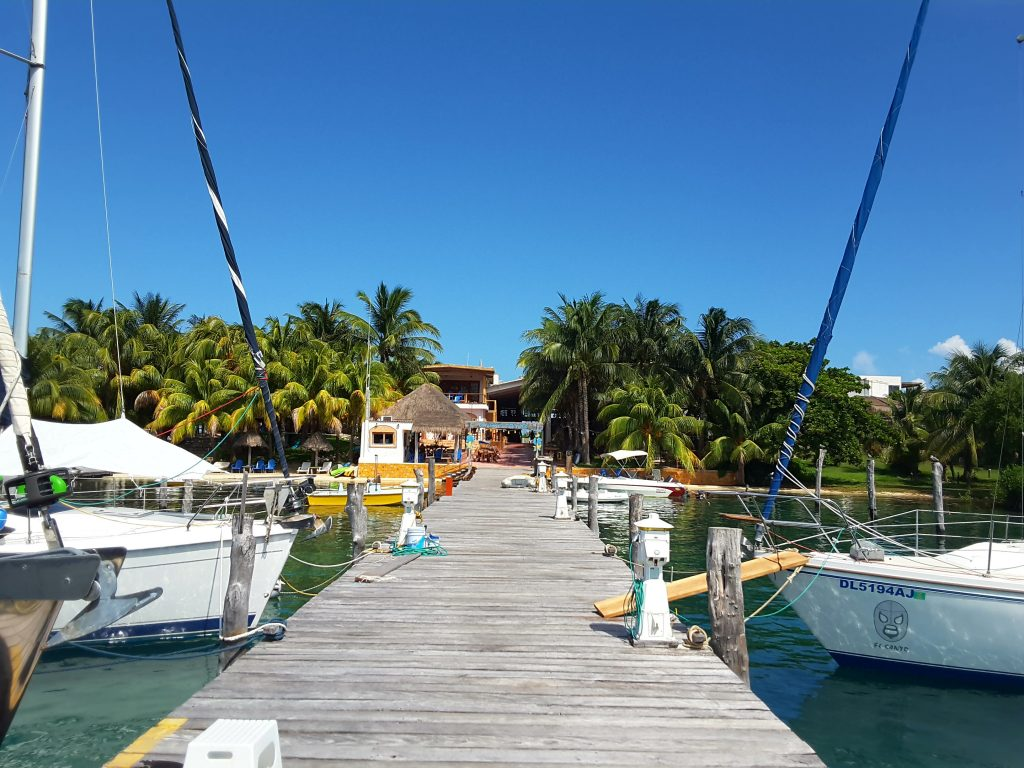View from the end of the pier towards the Marina.